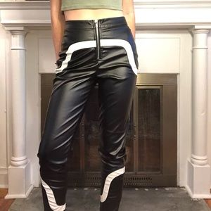 RETRO speed racer leather print pants